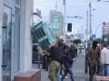 В Житомире разгромили отделения российских банков (фото)