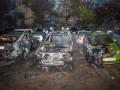 На стоянке в Днепре сгорели пять авто