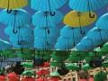 Софийскую площадь нарядили в разноцветные зонтики