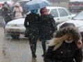 Украинцев ожидают мокрый снег с дождем