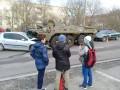 Под Ровно бронемашина ВСУ раздавила авто