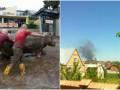 Итоги выходных: Пожар на нефтебазе и наводнение в Тбилиси