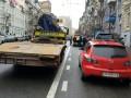 Центр Киева освобождают от неправильно припаркованных автомобилей