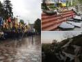 Итоги 5 октября: протесты под Радой, разгром мемориала Небесной сотне и обострение в серой зоне