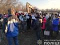 Под Запорожьем митингуют против строительства карьера по добыче каолина