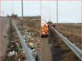 Три грузовика мусора с километра дороги: в Полтавской области чистили обочины