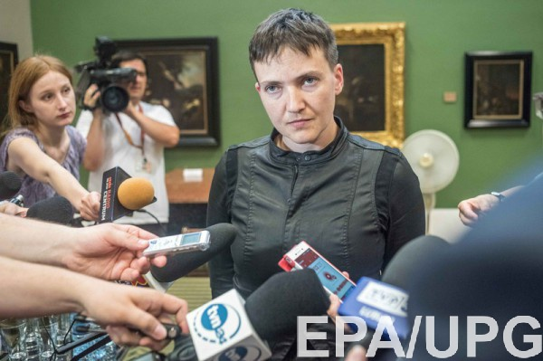 Вавтомобиль Савченко врезался нетрезвый шофёр