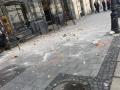 В центре Львова на людей с крыши дома рухнули кирпичи