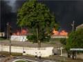 В оккупированном Крыму произошел масштабный пожар на складе со шпалами