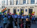 В Запорожье на акции ЛГБТ бросили петарду, ранен полицейский