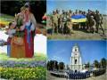 Неделя в фото: Порошенко с бойцами АТО, День флага Украины и Певческое поле в цветах