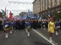 В Киеве на Крещатике профсоюзы проводят первомайскую демонстрацию