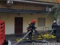 В Киеве возле Мининфраструктуры произошел масштабный пожар
