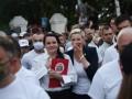 По всей Беларуси прошли митинги в поддержку соперницы Лукашенко