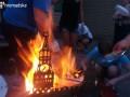 Мангал в виде Кремля и двуглавая курица: Автомайдан устроил пикет под домом Медведчука