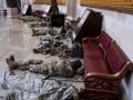 Опубликованы фото спящих военных в Капитолии США