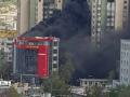 В Кишиневе пожар охватил 10-этажный ТРЦ