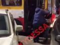 В Одессе водители троллейбусов устроили драку на дороге