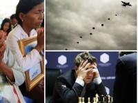 День в фото: молитва камбоджийских женщин, прыжки парашютистов и шахматный ход