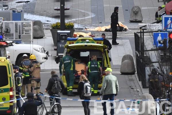 Жертвами атаки вСтокгольме стали покрайней мере двое, большое количество раненых