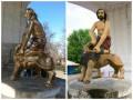 Знаменитый киевский фонтан изуродовали бронзовой краской