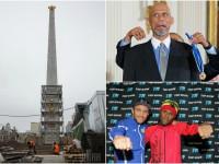 День в фото: реставрация обелиска Победы в Киеве, тренировка Ломаченко и  медаль от Обамы