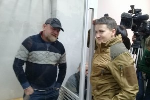 """Савченко пришла на суд к Рубану """"выразить уважение"""""""