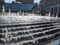 С приходом осени на Майдане запустили каскадный фонтан
