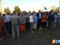 Киевляне вновь вышли с протестом к метро Героев Днепра
