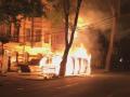 В Днепре горела пиццерия ветеранов АТО