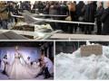 День в фото: украинские беспилотники, показ мод в Париже и продажа снега в Одессе