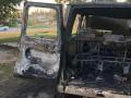 В Киеве восемь мужчин в масках сожгли фургон