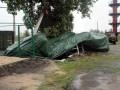 В Северодонецке ураган снес палаточный городок для переселенцев