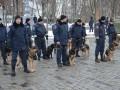 Как бойцы Нацгвардии и кинологи Харьков патрулируют