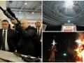 День в фото: выставка оружия в Киеве, текстильная инсталяция в Германии и чучела в Индии