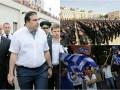 Итоги выходных: Присяга полицейских, референдум в Греции и Саакашвили в тельняшке