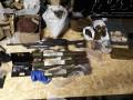 Полиция обнаружила два тайника с пулеметом и 9 гранатометами