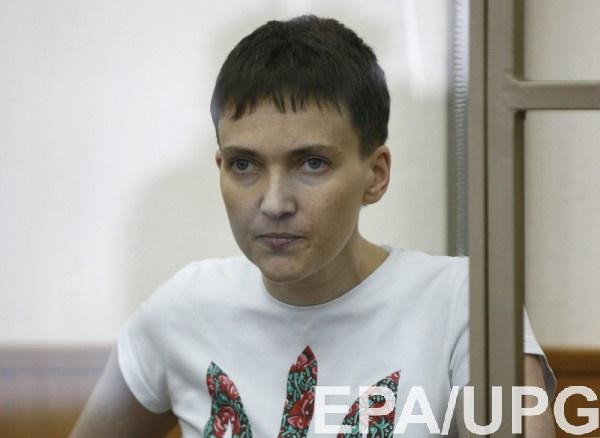 Надежда Савченко 3 марта объявила сухую голодовку