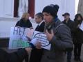 На митинге в Одессе активисты бросались на депутатов
