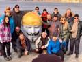 Ленина в Днепре нарядили Фоксом и утопили в подводном музее