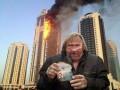 Пожар в Грозном-сити: лучшие демотиваторы