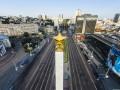 На площади Победы проводят реконструкцию трамвайного переезда