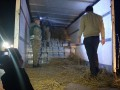 На польской границе засекли грузовик с поддельной водкой в сене