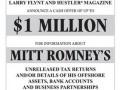 Издатель порножурнала предложил миллион долларов за информацию о доходах Ромни