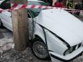 В Киеве BMW насмерть сбил женщину на тротуаре