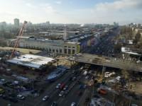 Установлена последняя секция Шулявского моста
