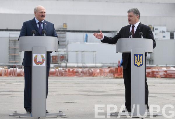 Порошенко договаривается о сотрудничестве с Александром Лукашенко
