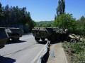 В Крыму оккупанты устроили ДТП с бронетранспортером