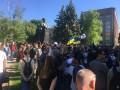 В Харькове на митинге против проспекта Жукова произошли стычки