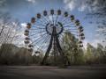 В Припяти туристы запустили колесо обозрения